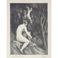Female Nude in the Forest