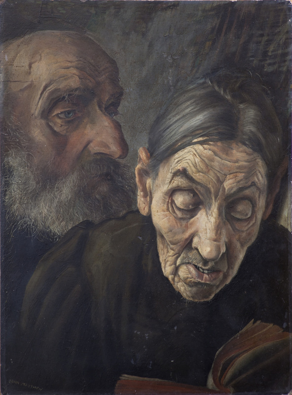 Heads of Two Old People