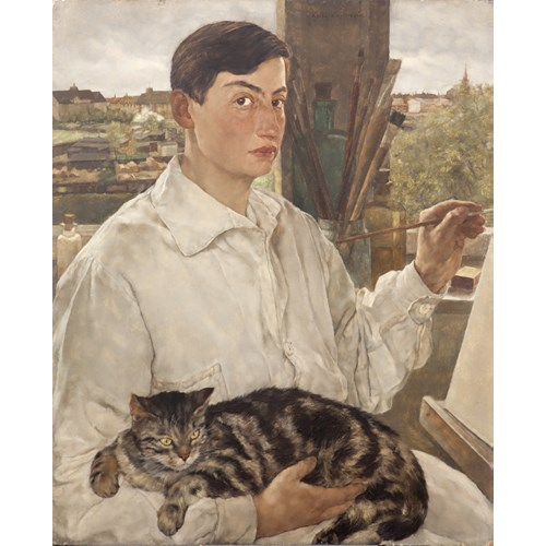 Self Portrait With A Cat
