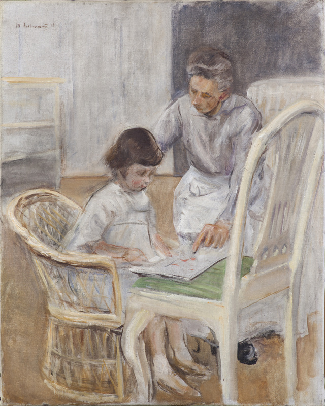 The Artist's Granddaughter with Her Nurse