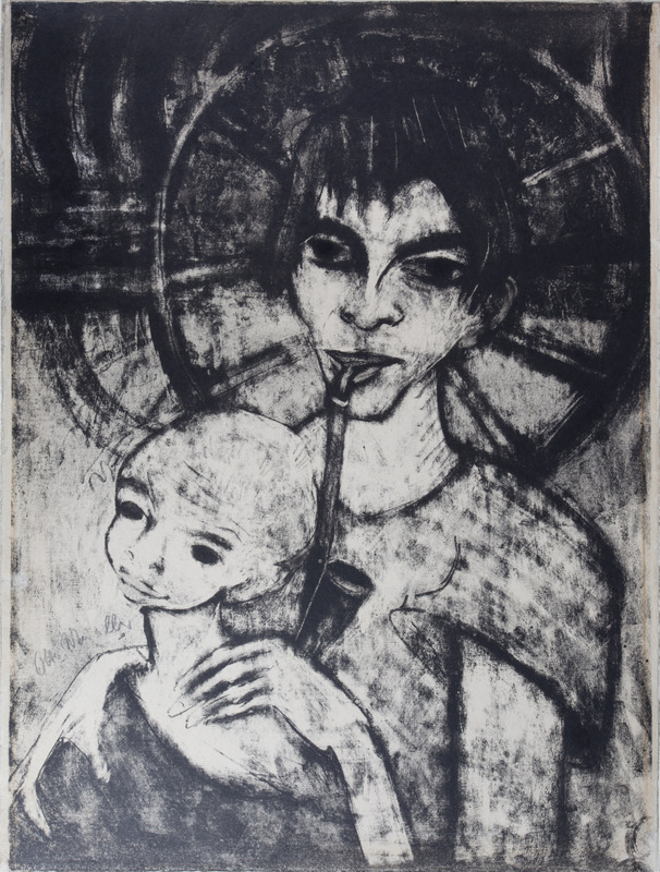Gypsy Woman and Child (Gypsy Madonna)