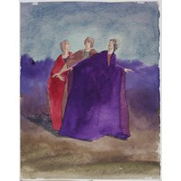 Three Robed Women