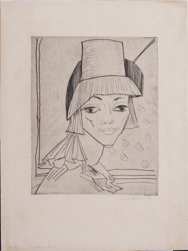 Young Woman with High Hat