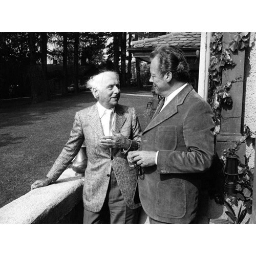 Max Ernst (left). By Detlef Gräfingholt, 29th August 1972. Bundesarchiv, B 145 Bild-F037597-0004