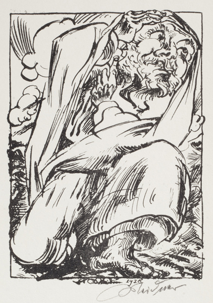 September Cry, Plate 11: Bearded Man