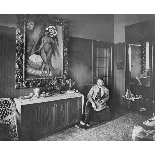 Max Pechstein in his house, 1915. By Waldemar Titzenthaler