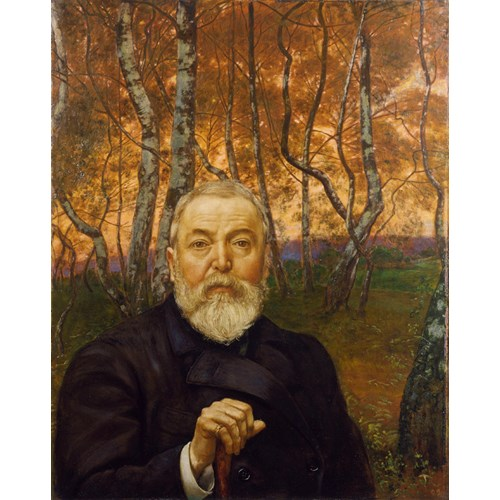 Hans Thoma, Self-portrait in Front of a Birch Forest, 1899. From the collection of the Städel Museum.