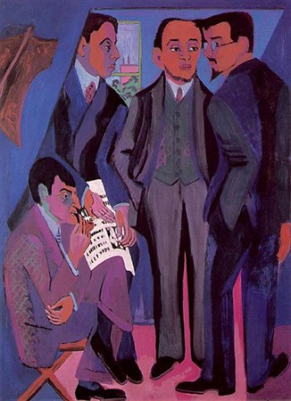 Painting of the group members by Ernst Ludwig Kirchner 1926/7 (Museum Ludwig, Köln)