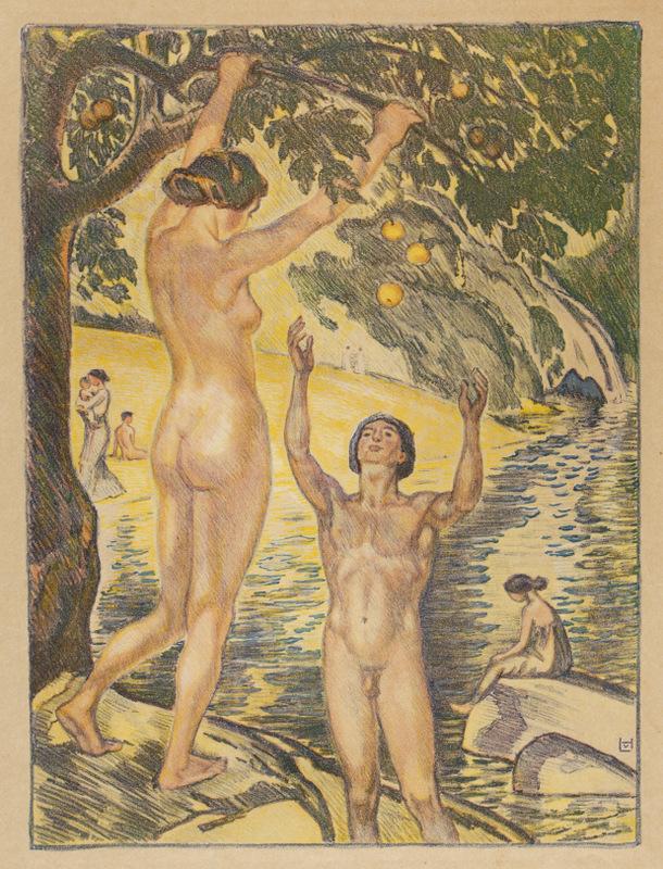 """Am Fluss"" by Ludwig von Hofmann"