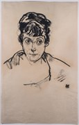 Egon Schiele 002 Woman Black Hair