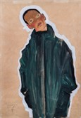 Egon Schiele 003 Boy In Green Coat