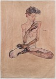 Egon Schiele 001 Seated Boy